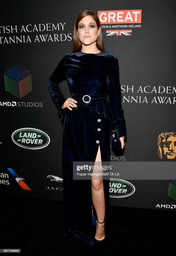 Charity Wakefield attends the 2017 AMD British Academy Britannia Awards Presented by American Airlines And Jaguar Land Rover at The Beverly Hilton Hotel on October 27, 2017 in Beverly Hills, California.