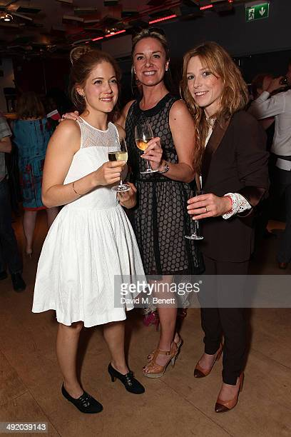 Charity Wakefield Tamsin Outhwaite and Honeysuckle Weeks attend Park Theatre's first birthday gala hosted by Sir Ian McKellen at Park Theatre on May...