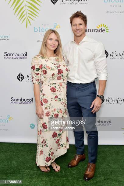Charity Walden and Rusty Joiner attend New Bloom Media Presents 2nd Annual Bloom Summit at The Beverly Hilton Hotel on June 1 2019 in Beverly Hills...
