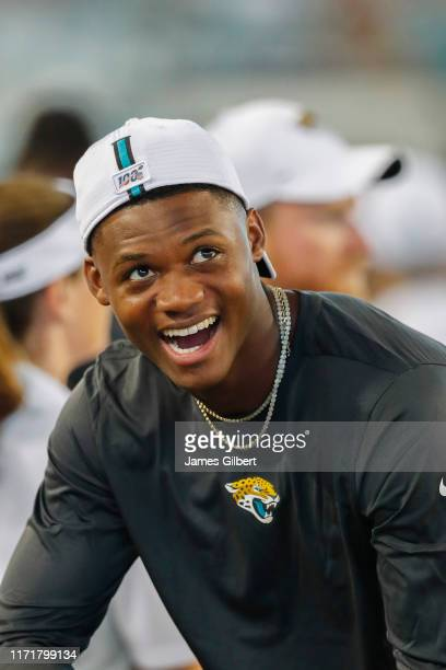 J Chark of the Jacksonville Jaguars looks on during the second half of a preseason game at TIAA Bank Field on August 29 2019 in Jacksonville Florida