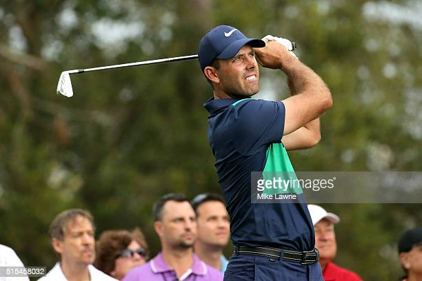 Charl Schwartzel of South Africa hits off the 16th tee during the final round of the Valspar Championship at Innisbrook Resort Copperhead Course on...