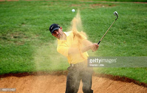 Charl Schwartzel of South Africa in action during a practice round ahead of the South African Open Championship at Glendower Golf Club on November 20...