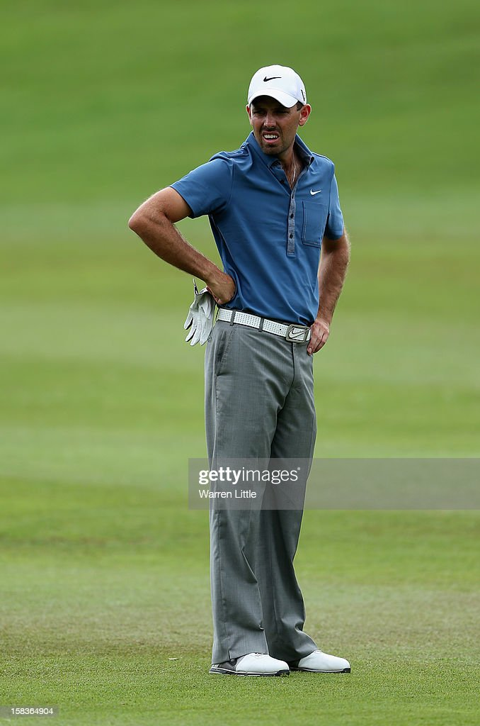 Charl Schwartzel of South Africa looks on during the second round of the Alfred Dunhill Championship at Leopard Creek Country Golf Club on December 14, 2012 in Malelane, South Africa.