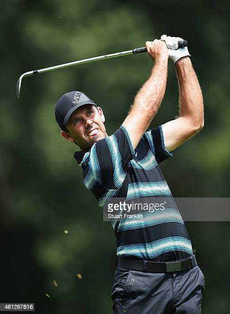 Charl Schwartzel of South Africa plays a shot during the third round of the South African Open at Glendower Golf Club on January 10 2015 in...