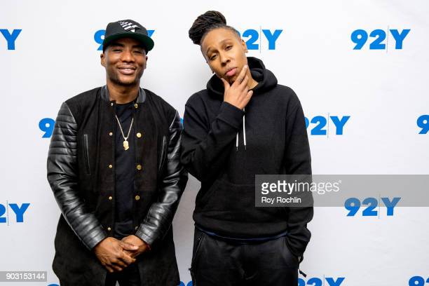 Charlamagne Tha God and Lena Waithe attend 92nd Street Y Presents Showtime's 'The Chi' at Kaufman Concert Hall on January 9 2018 in New York City