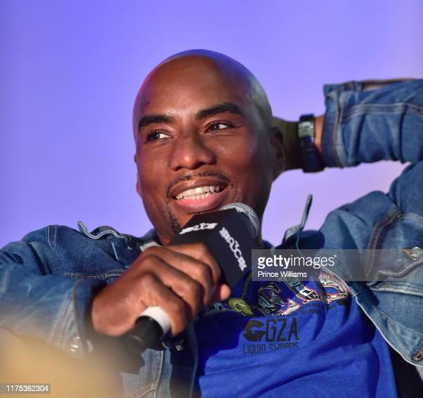 Charlamagne Tha god attends 2019 A3C Festival and Conference at Atlanta Convention center at AmericasMart on October 11 2019 in Atlanta Georgia