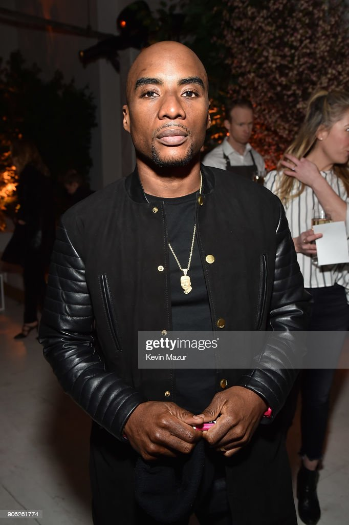 Charlamagne Tha God attends American Express x Justin Timberlake 'Man Of The Woods' listening session at Skylight Clarkson Sq on January 17, 2018 in New York City.