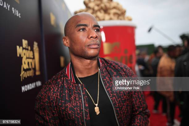 Charlamagne tha God attends the 2018 MTV Movie And TV Awards at Barker Hangar on June 16 2018 in Santa Monica California