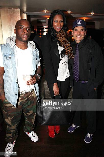 Charlamagne tha God Jennifer Williams and Phillip Bloch attend a private dinner at Mr Chow on June 5 2012 in New York City