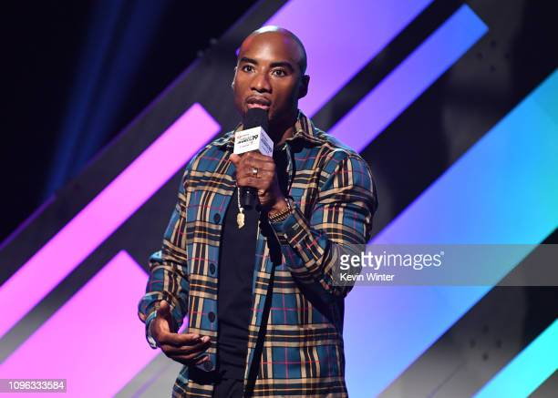 Charlamagne tha God onstage at the 2019 iHeartRadio Podcast Awards Presented by Capital One at the iHeartRadio Theater LA on January 18 2019 in...