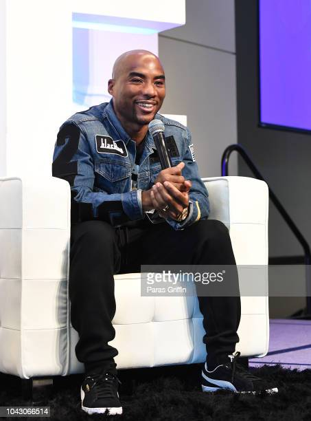 Charlamagne tha God speaks onstage during RollingOut 2018 Ride Conference at Loudermilk Conference Center on September 29 2018 in Atlanta Georgia