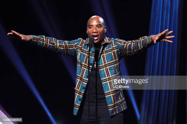 Charlamagne tha God speaks onstage during the 2019 iHeartRadio Podcast Awards Presented By Capital One at iHeartRadio Theater on January 18 2019 in...