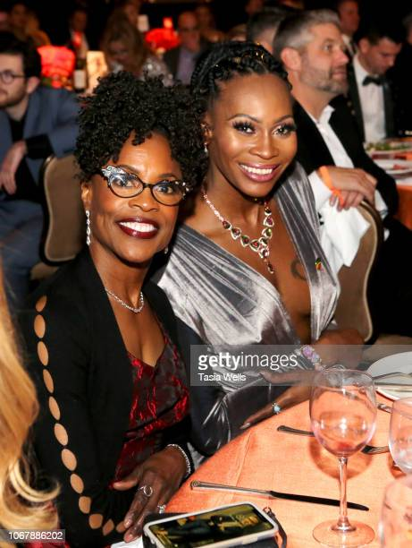 Charlayne Woodard and Deborah Cox attend the Trevor Project's TrevorLIVE LA 2018 at The Beverly Hilton Hotel on December 3 2018 in Beverly Hills...