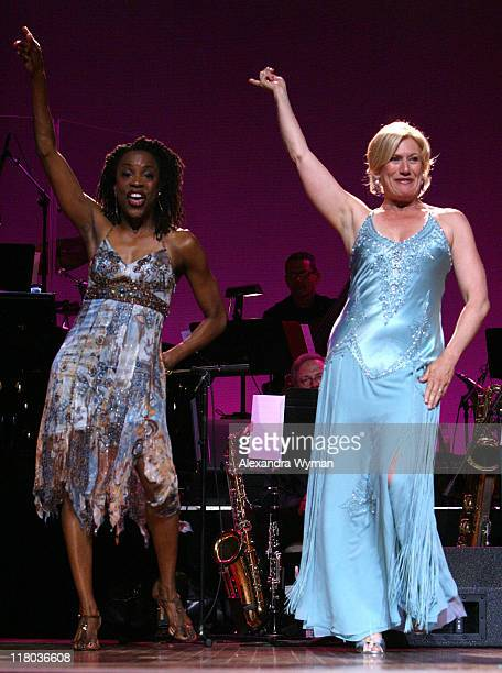 Charlayne Woodard and Jayne Atkinson during 2007 What a Pair Benefiting the John Wayne Cancer Institute Show at The Orpheum Theatre in Los Angeles...