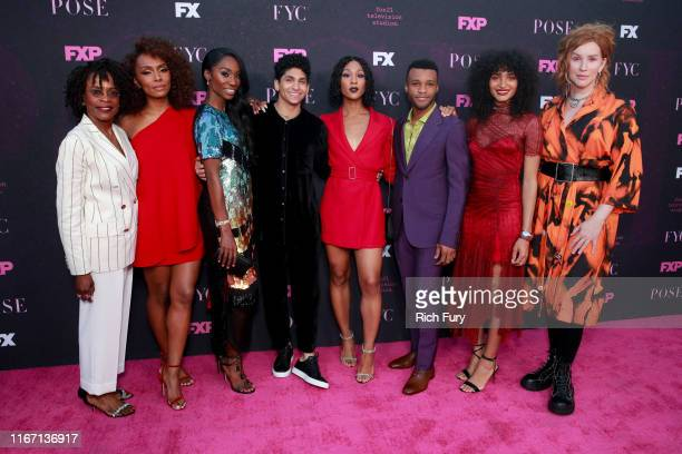 Charlayne Woodard Janet Mock Angelica Ross Angel Bismark Curiel Mj Rodriguez Dyllón Burnside Indya Moore and Our Lady J attend the red carpet event...