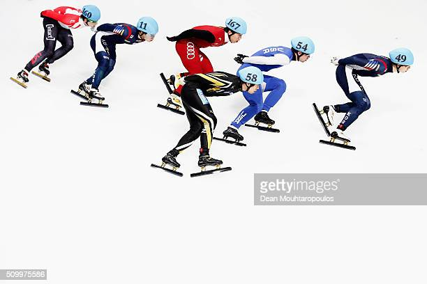 Charle Cournoyer of Canada Ra Seo Yi of South Korea Fu Xu of China Ryosuke Sakazume of Japan Cole Krueger of the United States of America and JungSu...