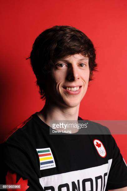 Charle Cournoyer poses for a portrait during the Canadian Olympic Committee Portrait Shoot on June 3 2017 in Calgary Alberta Canada