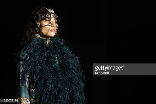Charlee Fraser walks the runway during the Afterpay's Future of Fashion show during Afterpay Australian Fashion Week 2021 Resort '22 Collections at...