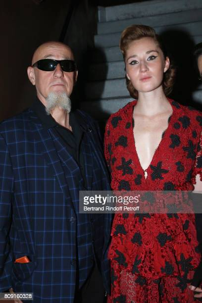 Charlelie Couture and his daughter Yamee Couture attend the Franck Sorbier Haute Couture Fall/Winter 20172018 show as part of Haute Couture Paris...