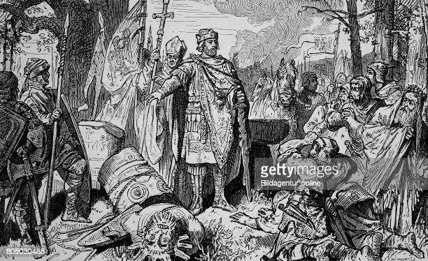Charlemagne 2 April 742/747/748 28 January 814 also known as Charles the Great The destruction of Irminsul historical illustration