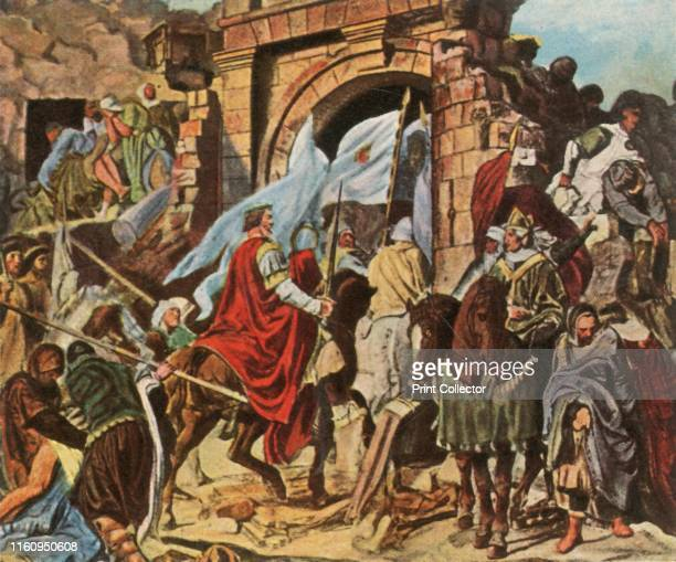 Charlemagne enters Pavia 'Einzug Karls Des Grossen in Pavia' 774 AD The Lombards surrender to Charlemagne King of the Franks after he besieged the...