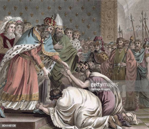 Charlemagne receives the Ambassadors from the Emperor of the East' 1789 Charlemagne King of the Franks from 768 was crowned Holy Roman Emperor in 800...