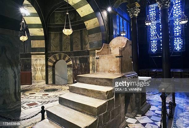 Charlemagne's Throne Palatine Chapel Aachen Cathedral RhinelandWestphalia Germany