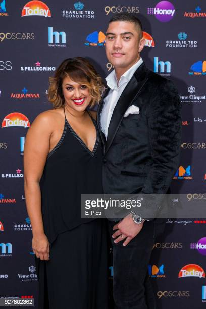 Charlene and Patrick from Married at first sight attends the Channel 9 Charity Oscars lunch raising money for the Charlie Teo Foundation at Glass...