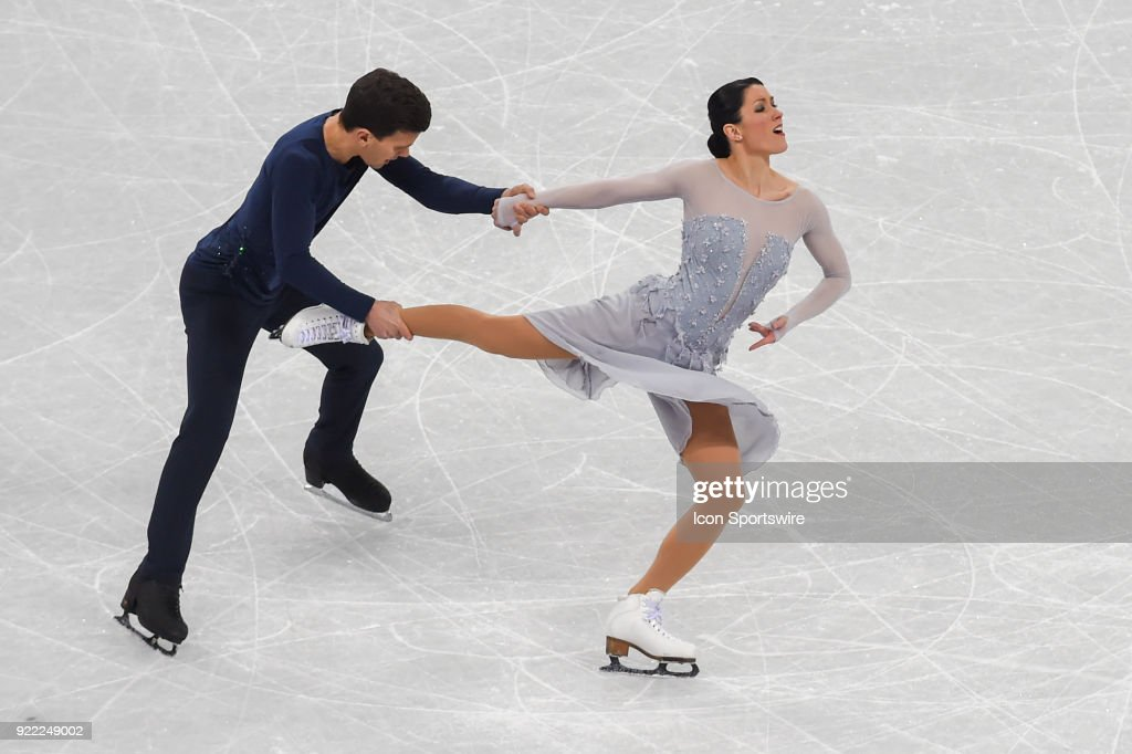Charlene Buignard and Marco Fabbri (ITA) skate in the free dance of the Ice Dancing competition during the 2018 Winter Olympic Games at the Gangneung Ice Arena on February 20, 2018 in PyeongChang, South Korea.