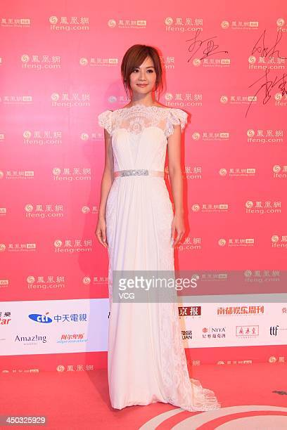 Charlene Choi arrives at the red carpet of the Phoenix Fashion Choice 2013 on November 16 2013 in Beijing China