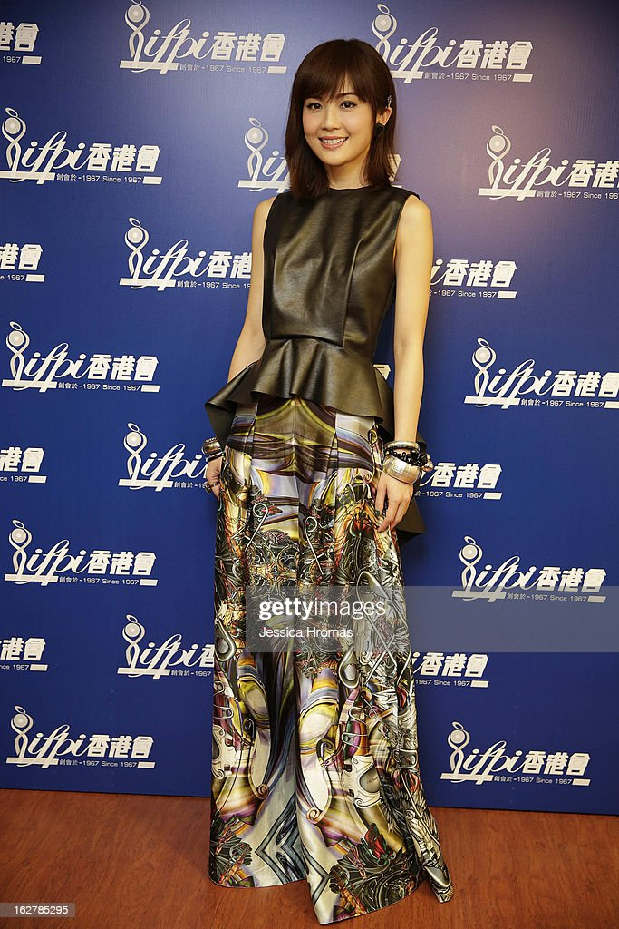 Charlene Choi at the 2013 IFPI Hong Kong Top Sales Music Awards at Star Hall on February 26, 2013 in Hong Kong, Hong Kong.