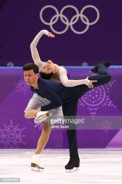 Charlene Guignard and Marco Fabbri of Italy compete in the Figure Skating Ice Dance Free Dance on day eleven of the PyeongChang 2018 Winter Olympic...