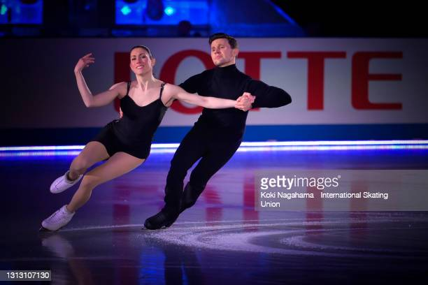 Charlene Guignard and Marco Fabbri of Italy perform during the gala exhibition of ISU World Team Trophy at Maruzen Intec Arena Osaka on April 18,...