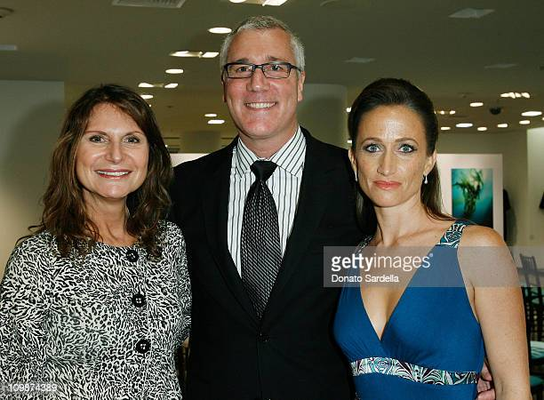 Charlene Holt Larry Bruce and Celine Cousteau attend the Saks Fifth Avenue La Prairie event on September 17 2008 in Beverly Hills California