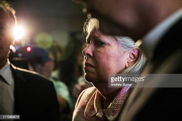 Charlene Marshall wife of Anthony Marshall waits for an elevetor to leave Manhattan Criminal Courts after the sentencing of her husband Anthony...