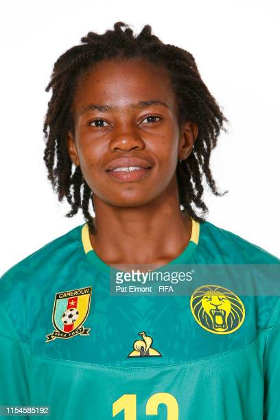 Charlene Meyong of Cameroon poses for a portrait during the official FIFA Women's World Cup 2019 portrait session at Crowne Plaza Montpellier Corum...