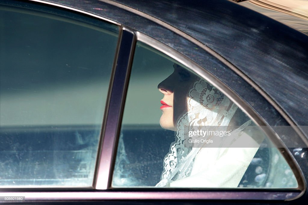 Charlene of Monaco leaves the Apostolic Palace after an audience with Pope Francis on January 18, 2016 in Vatican City, Vatican.