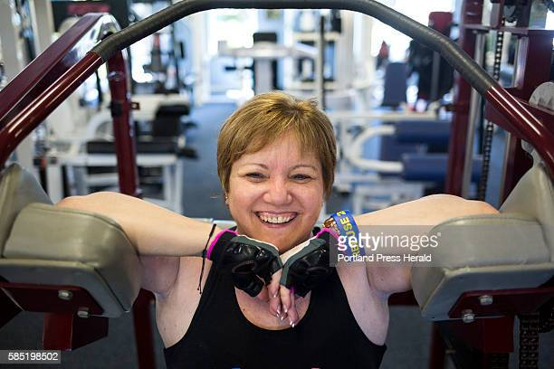 Charlene Ouellet of Brunswick works out with her personal trainer Will Smith at his gym Refuse 2B Feeble which specializes in providing resources for...