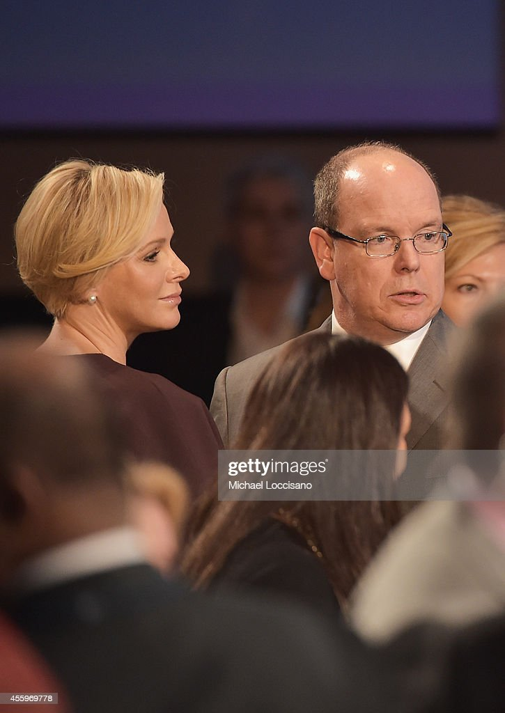Charlene, Princess Of Monaco and Albert II, Prince Of Monaco attend 10th Annual Meeting of the Clinton Global Initiative at The at Sheraton New York Hotel & Towers on September 22, 2014 in New York City.