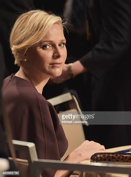 Charlene Princess Of Monaco attends the 10th Annual Meeting of the Clinton Global Initiative at The at Sheraton New York Hotel Towers on September 22...