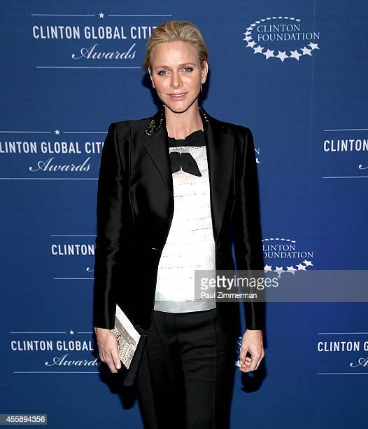 Charlene Princess of Monaco attends the 8th Annual Clinton Global Citizen Awards And CGCA Blue Carpet at Sheraton New York Times Square on September...