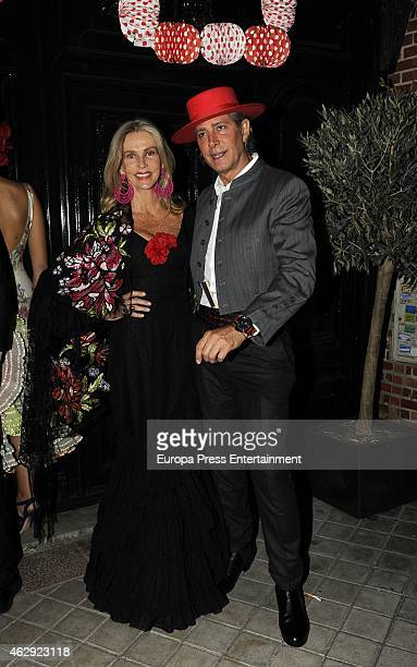 Charlene Shorto and Bruce Hoeksema attend Giancarlo Giammetti birthday party on February 6 2015 in Madrid Spain