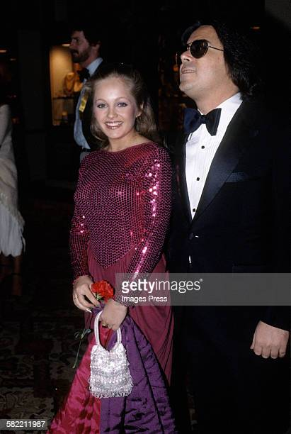 Charlene Tilton and manager Jon Mercedes III attend the 38th Annual Golden Globes at the Beverly Hilton circa 1981 in Beverly Hills California