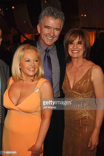 Charlene Tilton Patrick Duffy and Linda Gray during 2006 TV Land Awards Backstage and Audience at Barker Hangar in Santa Monica California United...