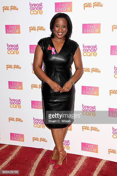 Charlene White attends the Breast Cancer Care London Fashion Show in association with Folli Follie 2016 at Park Plaza Westminster Bridge Hotel on...
