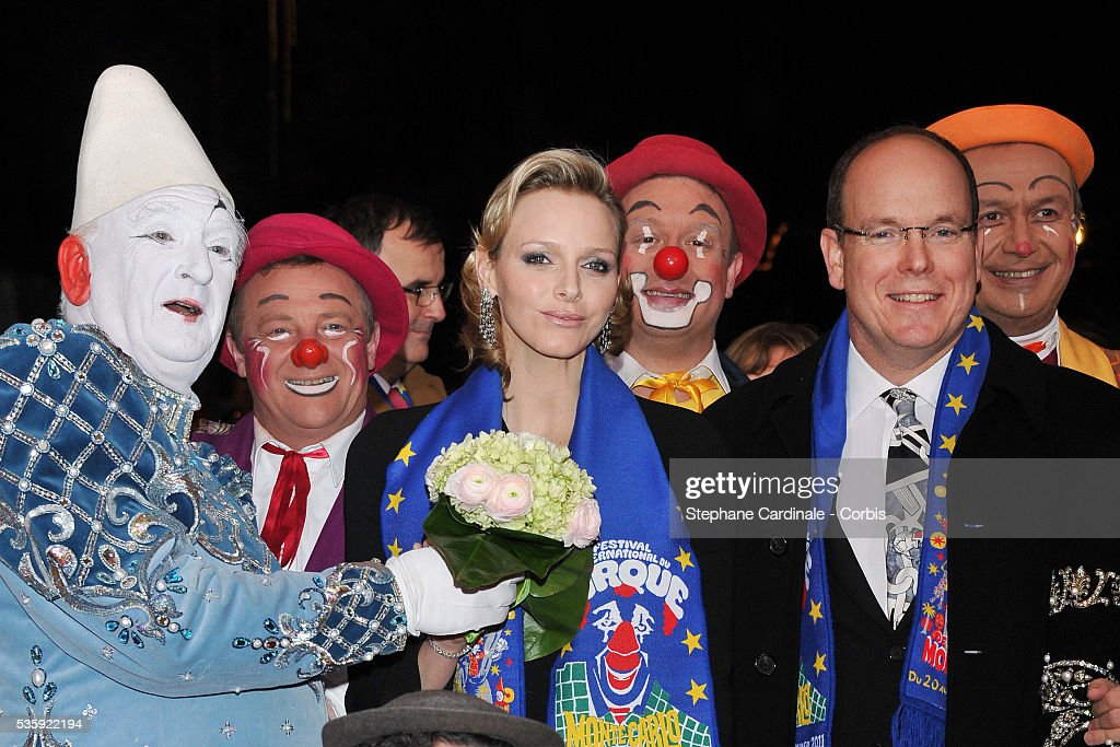 Charlene Wittstock and Prince Albert II of Monaco attend the Gala Ceremony of the Monte-Carlo 35th International Circus Festival 2011.