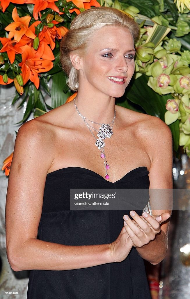 Charlene Wittstock arrives at the 'Unite For A Better World Gala Dinner' on September 2, 2007 at the Hotel de Paris in Monte Carlo, Monaco. The gala dinner is attended by over 350 guests, which will raise funds for the Amade Mondiale, the Nelson Mandela Foundation, the Nelson Mandela Children's Fund, and The Mandela Rhodes Foundation.