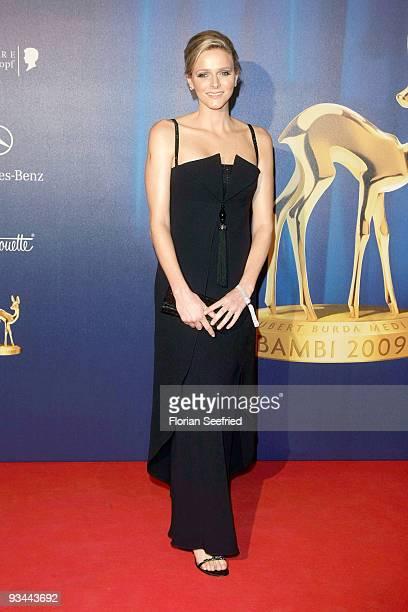 Charlene Wittstock arrives for the Bambi Awards 2009 at the Metropolis hall at Filmpark Babelsberg on November 26 2009 in Potsdam Germany
