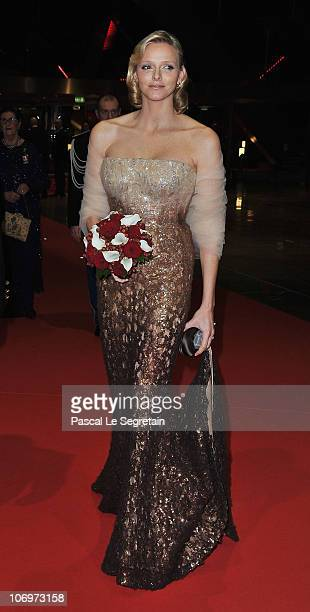 Charlene Wittstock arrives to attend the Monaco National day Gala concert at Grimaldi forum on November 19, 2010 in Monaco, Monaco.