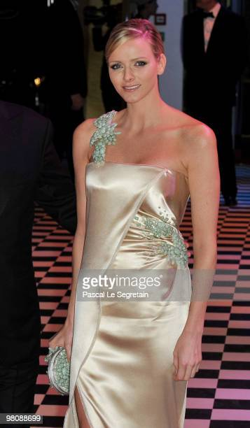 Charlene Wittstock arrives to attend the Monte Carlo Morocco Rose Ball 2010 held at the Sporting Monte Carlo on March 27 2010 in Monaco Monaco